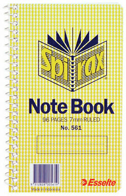 Spirax 561 A12 Spiral Notebook, Note Pad Side Opening 96 Pages - 20 Pack