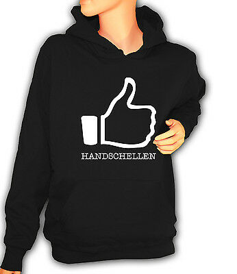 Girlie Hooded Sweat Hoodie Kapuzenpullover XS-XXL I LIKE HANDSCHELLEN BDSM CUFFS