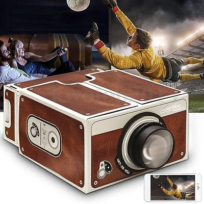 Universal DIY Portable Cardboard Smartphone Projector Home Theater For Phone