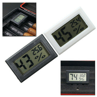 Cigar Box Hygrometer Thermometer Humidity Monitor LCD Digital Meter For Humidor