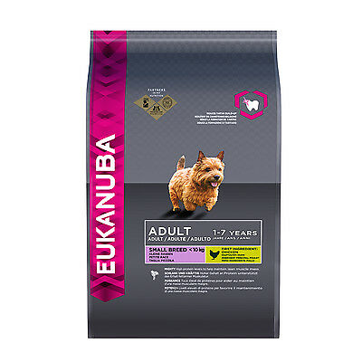EUKANUBA ADULT Premium Dry Dog Food For Small Breed, Chicken Flavor 1kg