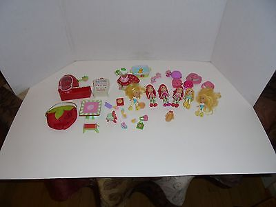 lot Strawberry Shortcake  Cafe House with 6 Dolls and 28 Accessories