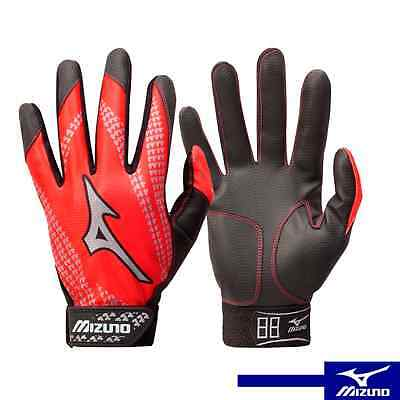 Mizuno Franchise Youth Tee Ball Batting Gloves Red color (PAIR)