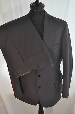"""Vintage 1970 green /red two tone 2 piece suit size medium 40"""" W 34"""" mod skin"""