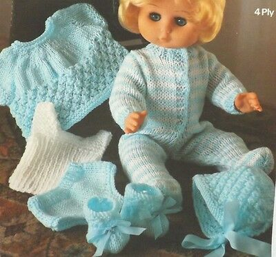 Baby Dolls Clothes Vintage Knitting Pattern Vest Pants Top All In