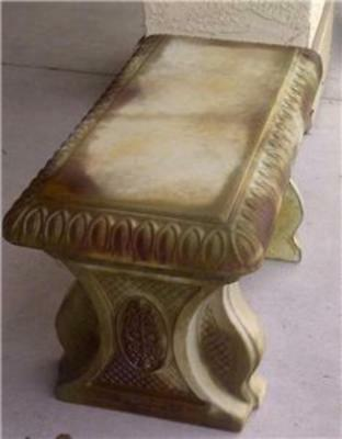 """Concrete Cement Bench Mold, Classic Egg and Dart top 1/8"""" thick top only."""
