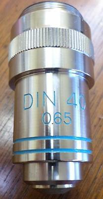 Edmund DIN 40 0.65 spring loaded Microscope Objective Lens