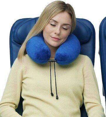 Travelrest - Therapeutic Memory Foam Neck Pillow with Washable Micro-fiber Cover