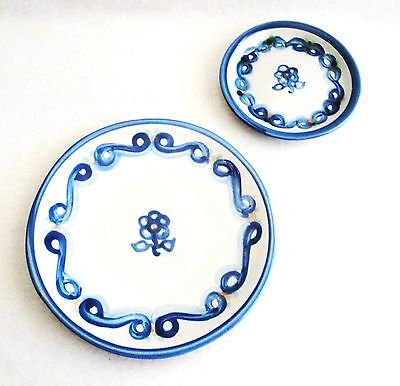 M A Hadley Bluette Bread and Butter Plate plus Coaster