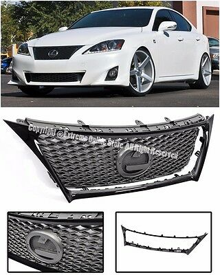 F Sport Style Front Hood Grille W/ Glossy Black Trim For 11-15 Lexus IS250 IS350