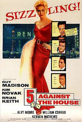 5 Against the House Movie POSTER (1955) Crime/Drama