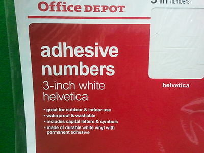 01012 3 PACKS Chartpak 1//2-inch Red Stick-on Vinyl Letters /& Numbers