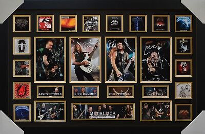 Metallica Signed Memorabilia Framed Limited Edition #b