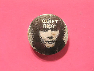"""Quiet Riot Vintage 1"""" Badge Button Pin Uk Made"""