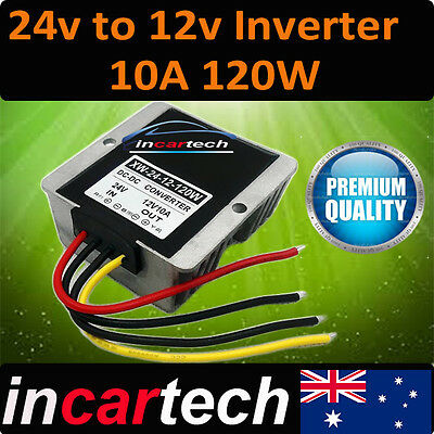 24V to 12V DC-DC Conversion Device Car Power Supply Inverter Converter 10A New