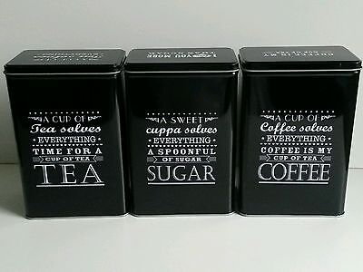 Victorian classic 52s retro style ceramic tea coffee sugar canisters storage set - Modern tea and coffee canisters ...