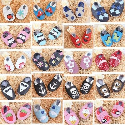 Leather Baby Infant Shoes New Toddler Unisex Soft Sole Shoes Fit Season Fall US