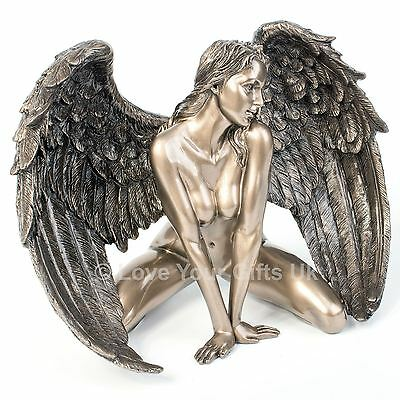 Angels Passion Bronzed Effect Figure Nude Female Angel Wings Nemesis Now