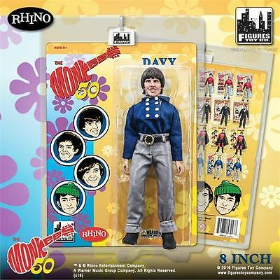 The Monkees; Blue Band Outfit; Davy Jones; 8 Inch Action Figure Licensed New