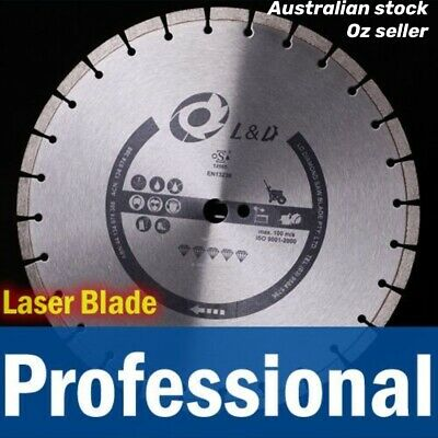 3PK 14inch Professional Laser welded  blade 15HP Road Saw Demo Saw /Concrete