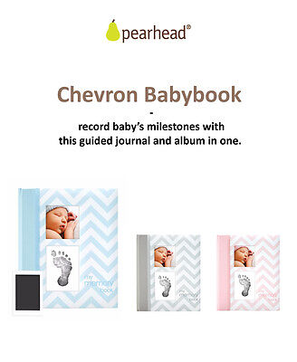 Pearhead Baby Book Chevron - Your Baby Memory Book