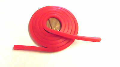 RED Striker 6mm Solid Square  catapult elastic REPLACEMENT BANDS SLINGSHOT BBS