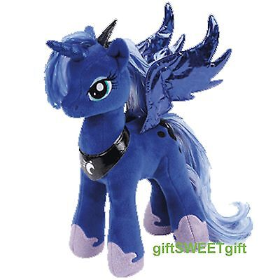 "Free Ship Authentic TY Plush My Little Pony PRINCESS LUNA 9"" Navy Blue NEW w/tag"
