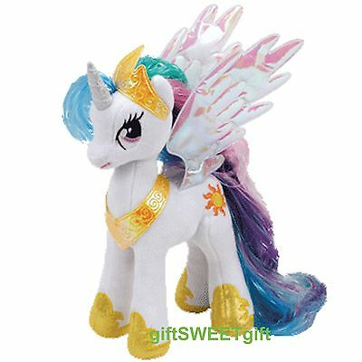 "Free Ship Authentic Genuine TY Plush My Little Pony PRINCESS Celestia 9"" White"