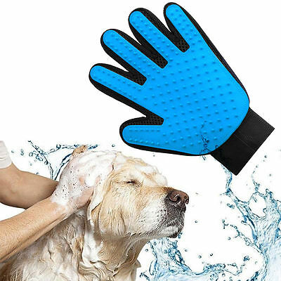 True Touch Deshedding Glove Gentle Efficient Pet Dog Cat Animal Grooming Massage