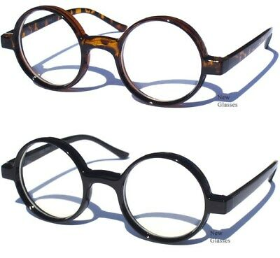 ROUND Classic Retro Style Frame CLEAR LENS GLASSES Nerd Hipster Smart Design NEW