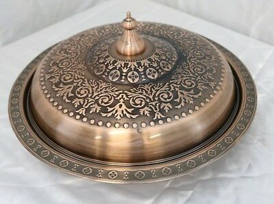 New 34cm Stainless Steel Copper Biriyani Plate with Lid 26562