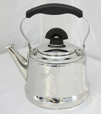 New 2Lt Stainless Steel Tea Pot With Strainer 26598