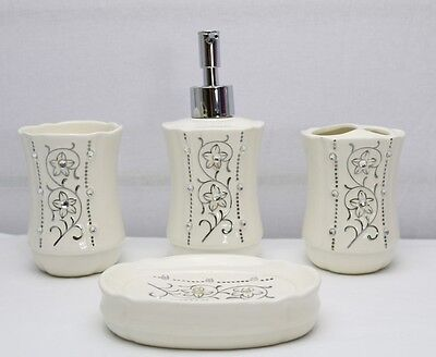 New Premium 4 Piece Ceramic Bathroom Set 17769