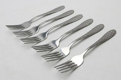 New Set of 6 Stainless Steel Dessert Forks 26098