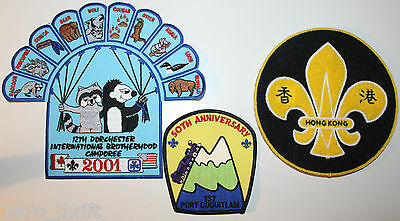 3 Huge Boy Scouts Patches Hong Kong Coquitlam BC Canada Dorchester International