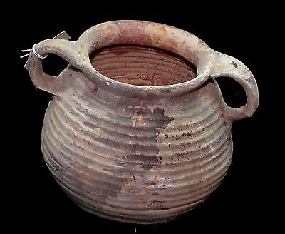 Herodian terra-cotta  pot ancient pottery p3555