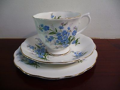 Royal Albert Vintage  'FORGET ME NOT' Tea Trio  Made in  England C.1950