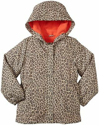 Carter's Infant Baby Girls Fleece-Lined Brown Cheetah Print Rain Jacket 12M NWT