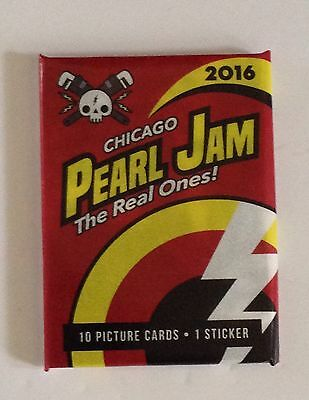 Pearl Jam Wrigley Field Baseball Card Pack 2016 Chicago Cubs