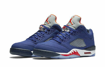 b0304073628 Nike Air Jordan 5 V Retro Low Knicks NY Royal Blue Orange Size 13. 819171