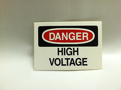 "Danger High Voltage Warning Sticker Decal  2.5"" x 1.75"" IMPERFECTIONS (Lot of 5)"