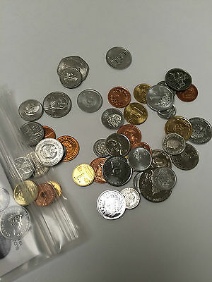 Lot of 50 Different World Coins, Great Starter Collection!!!