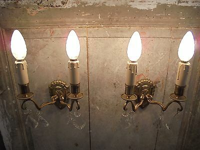 French wall light sconces a pair of bronze crystals fabulous style antique • CAD $171.11