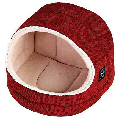 Gor Pets Hooded Luxury Cat Bed Igloo - Large (Coral Weave) - SAME DAY DISPATCH