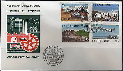 Cyprus - #448-51(4) + #490-92(3) - FDC