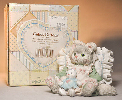 Calico Kittens: Friends Are Cuddles of Love - 627976 - Grey Kitten on Pillow