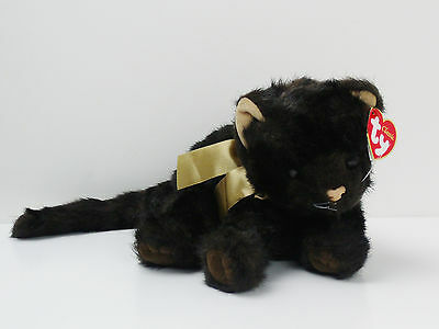 2002 Ty Classic Black Cat Gold Ribbon PURRECIOUS With TAGS