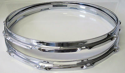 "NEW Replacement 14"" 10-Hole SNARE HOOPS For Ludwig/Pearl/Etc. (2.3mm) FREE SHIP!"
