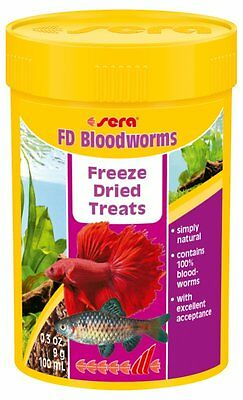 Sera FD Bloodworms 50,100,250ml The delicacy for juvenile fish and gourmets