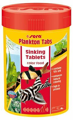 Sera Plankton Tabs 275 Tabs The color food consisting of sinking food tablets